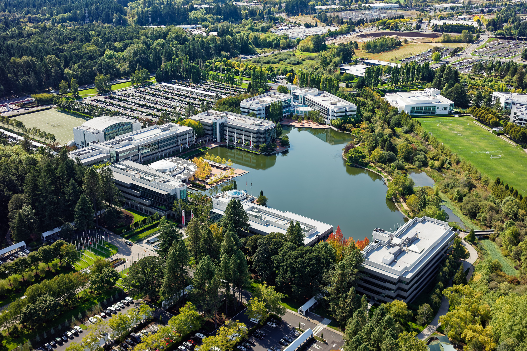 Aerial View of Nike Campus