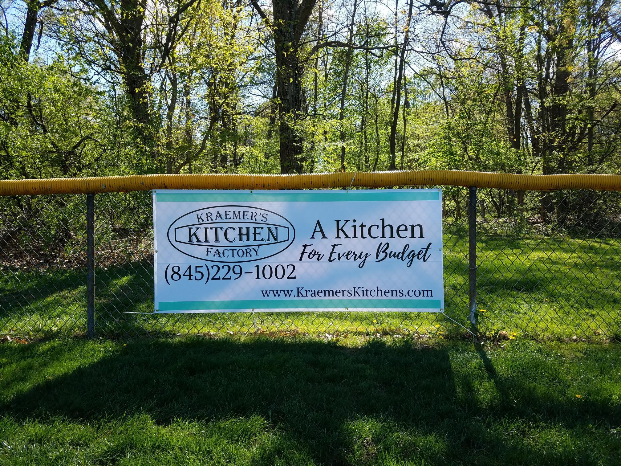 Kraemer's Kitchen Factory Outfield Banner