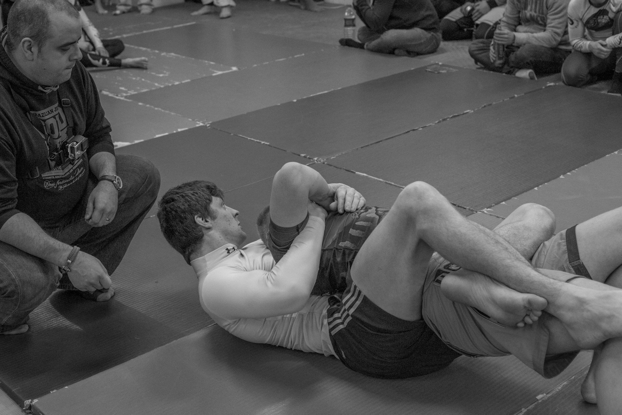 Laurie dominates his opponent.
