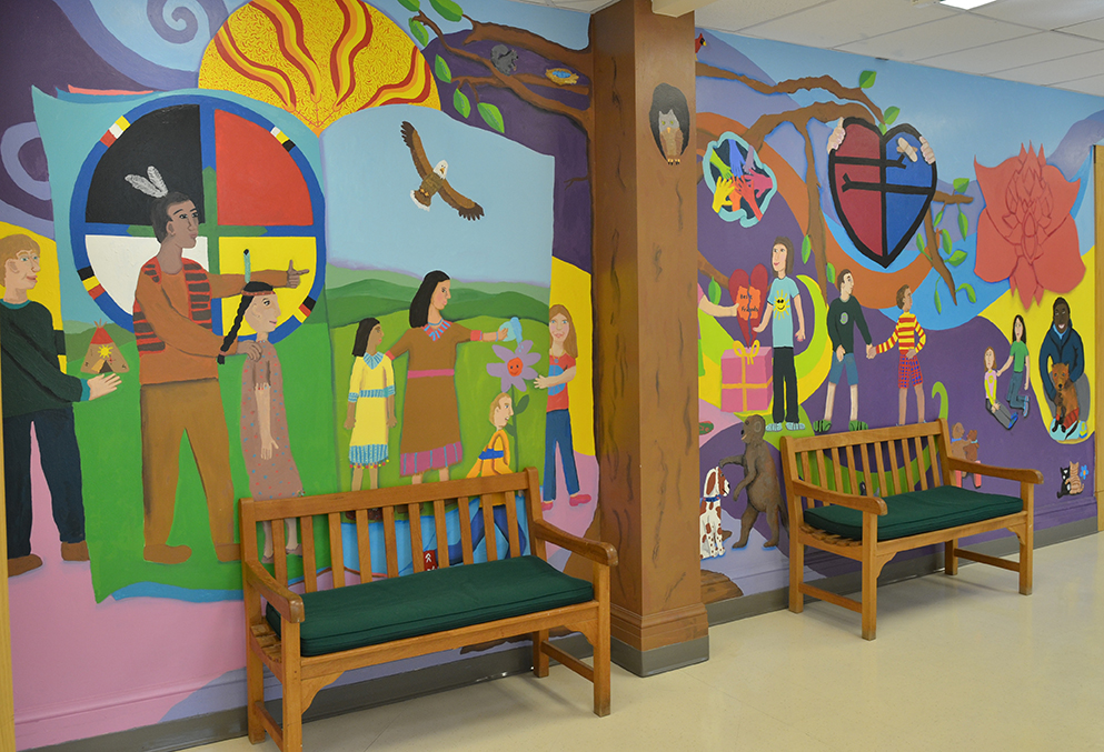 """Part of """"The Greeley Way"""" mural created by artist Beth Shadur and Greeley fourth grade students."""