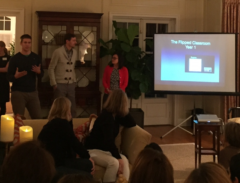 "Washburne Science Teachers Emily Berna, Katie Nelson, John Pappas and Jesse Semeyn presenting their ""Flipped Classroom"" project."