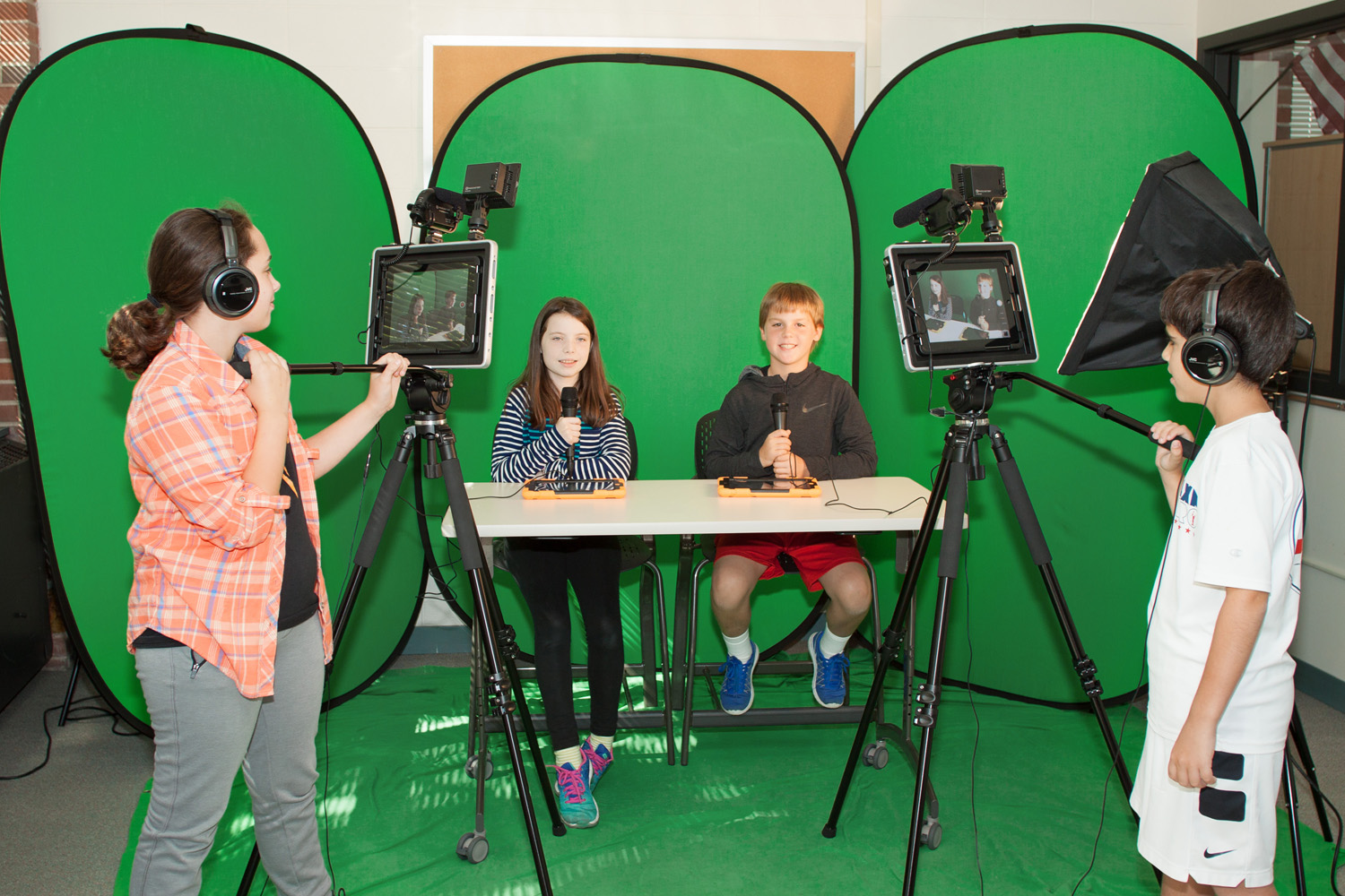 Students using Padcaster systems as part of their production studio.