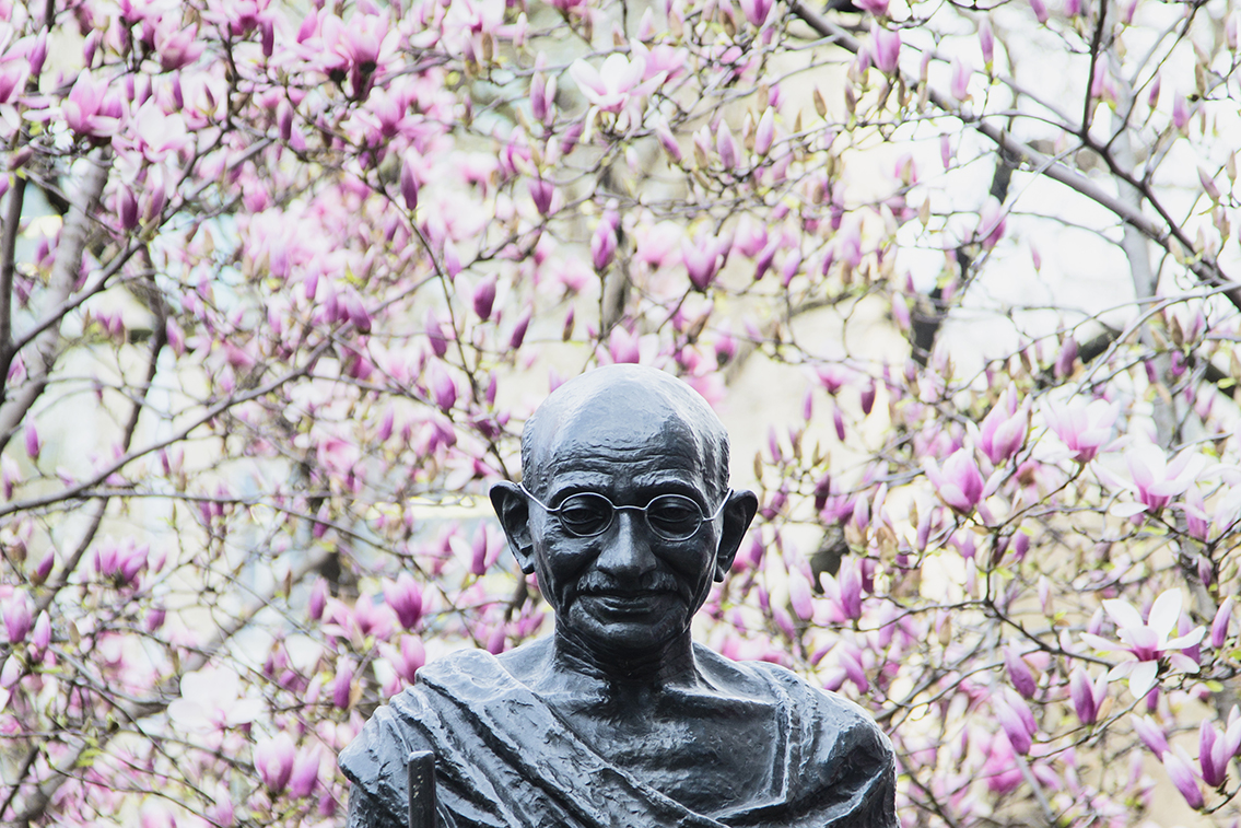 Mahatma Gandhi statue in Union Square. New York, NY
