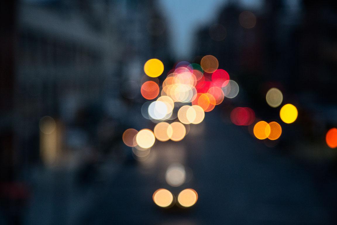 Traffic on 14th Street. New York, NY
