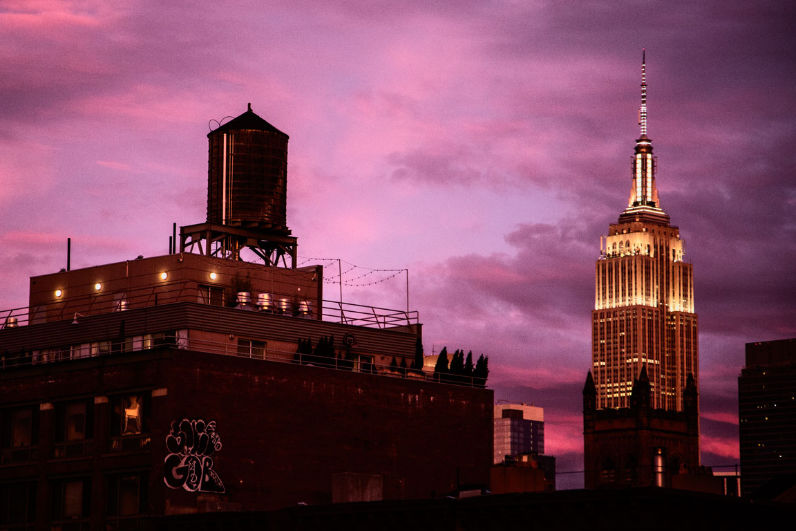 Empire State Sunset. New York, NY