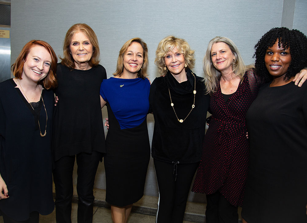 Gloria Steinem, Jane Fonda joins Emerge America at Gloria: A Life play. New York, NY