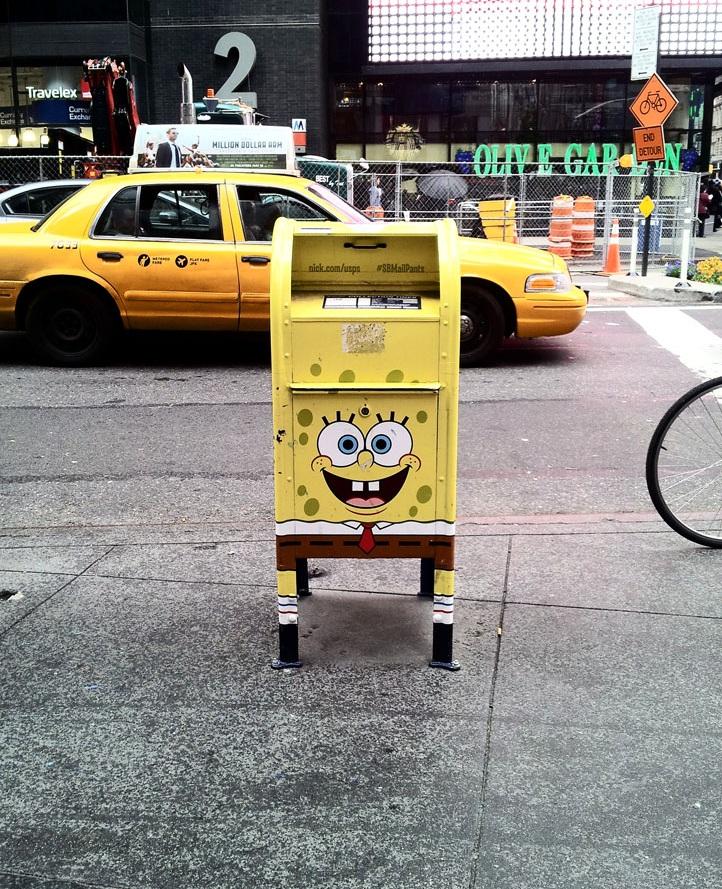 SpongeBob SquarePants does the United Postal Service. New York, NY