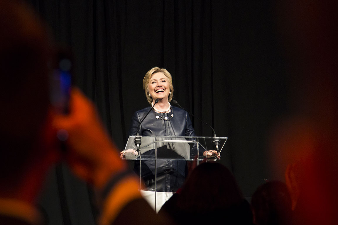 Hillary Clinton launches her LGBT for Hillary campaign in New York City. March 2016. New York, NY