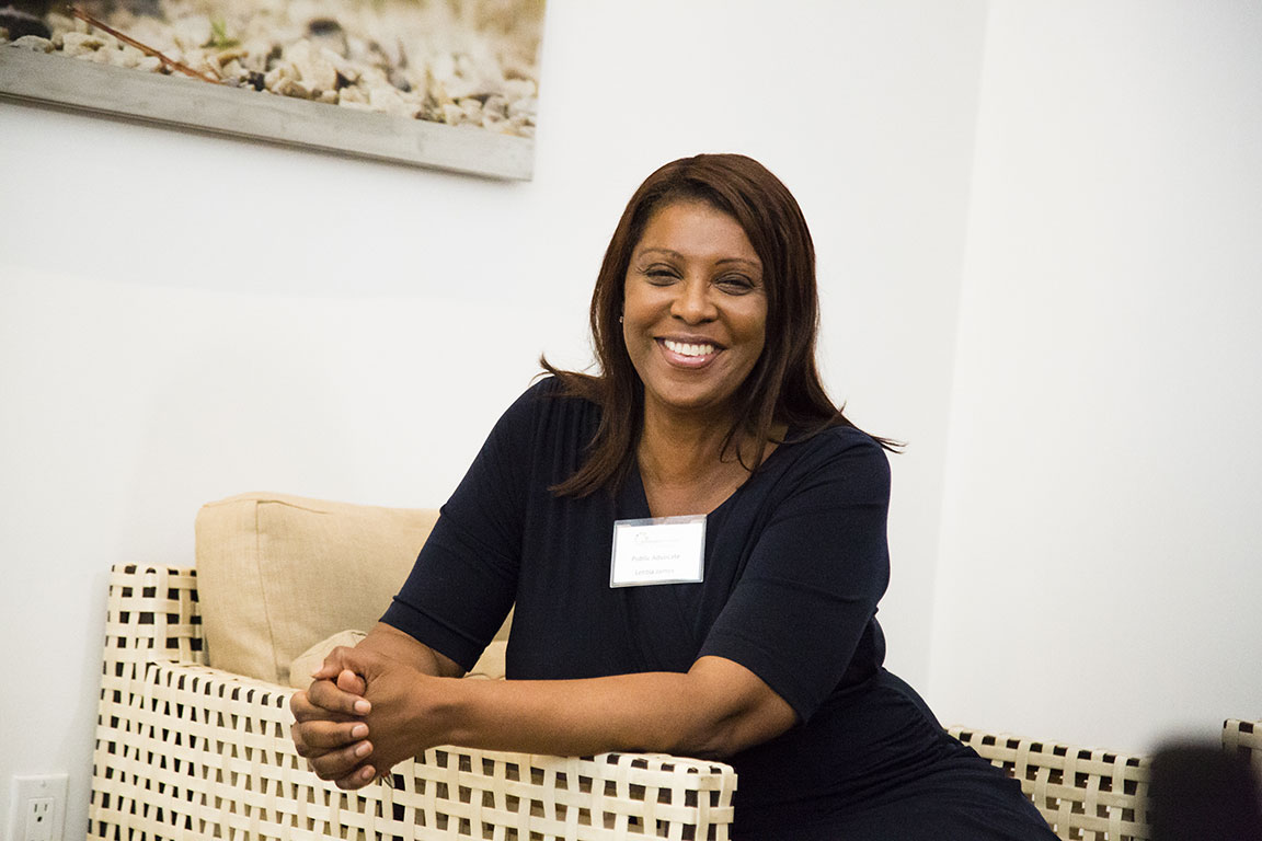 New York Attorney General Tish James shares her experience and inspiration with members of Emerge America. New York, NY. 2018.