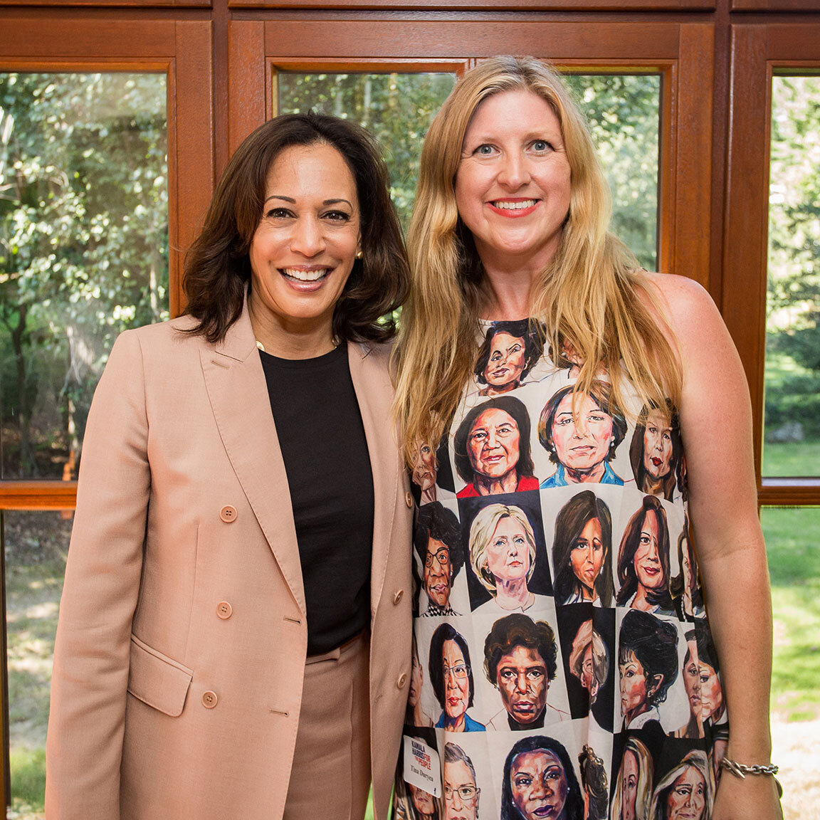 Senator Harris and artist TL Duryea. Photo by Kristen Blush for  Kamala Harris for the People .