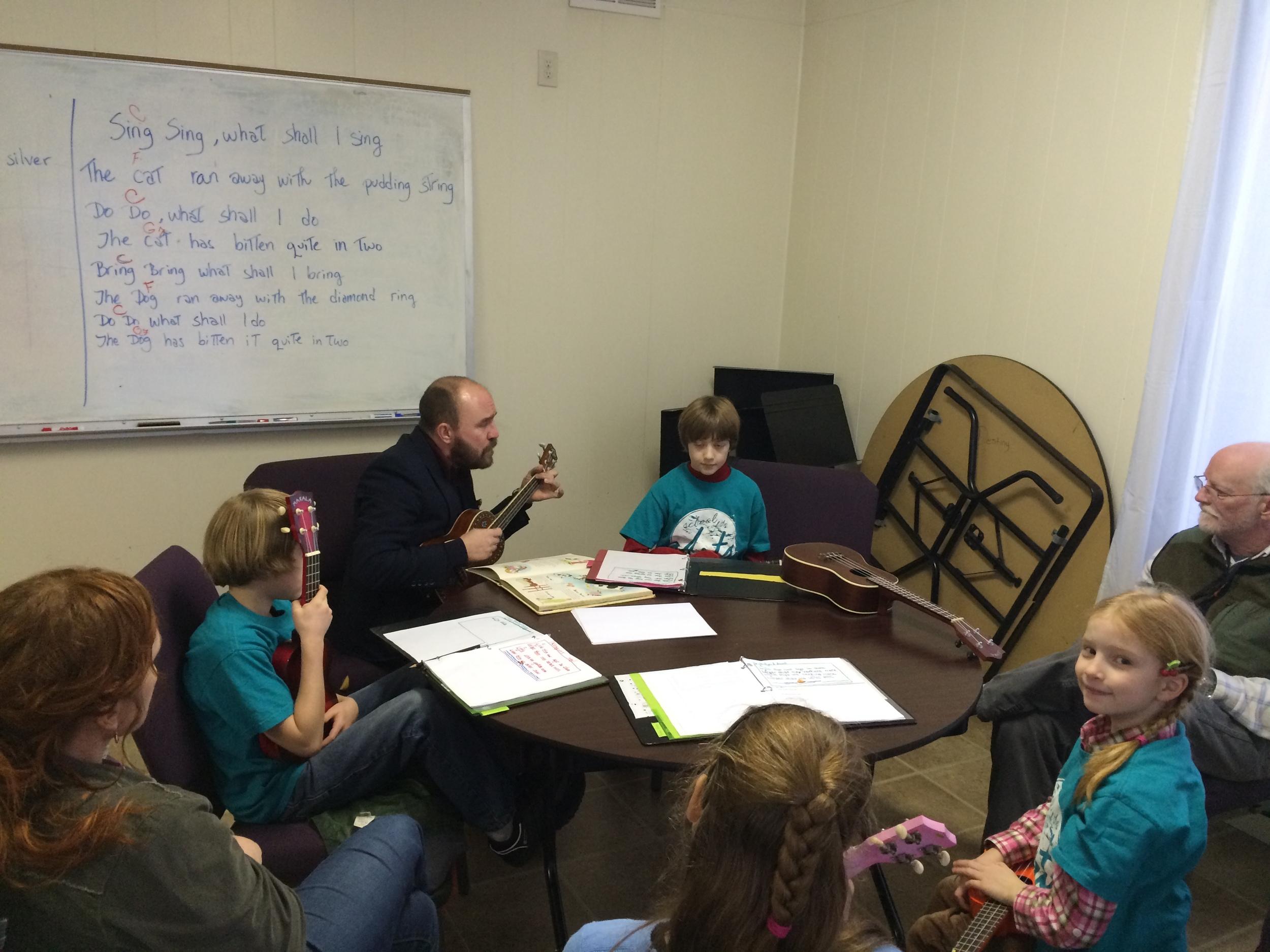 Songwriting in Kookoolele class