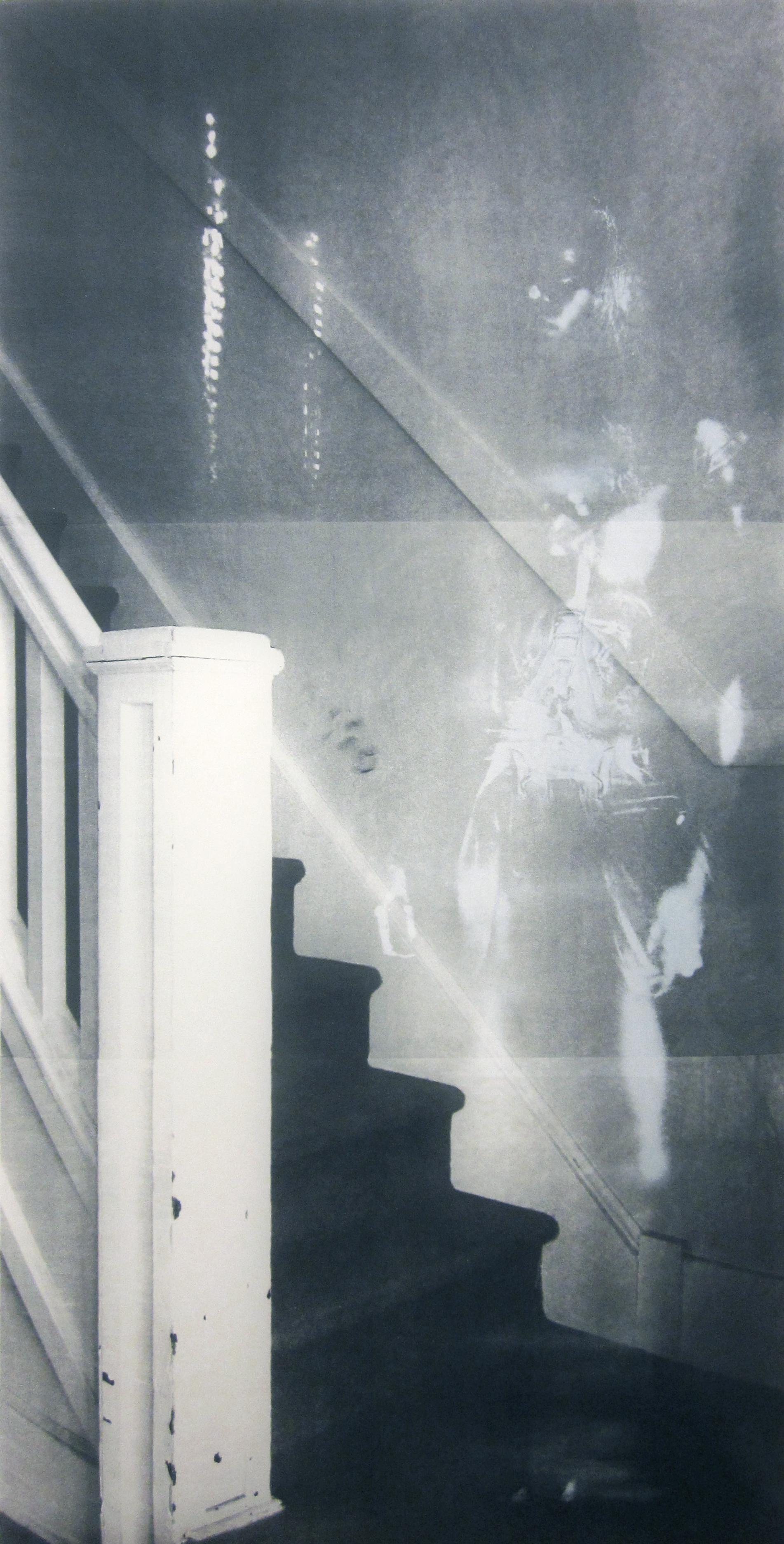 """""""Stairway,"""" Silkscreen, 84"""" x 42,"""" 2014"""