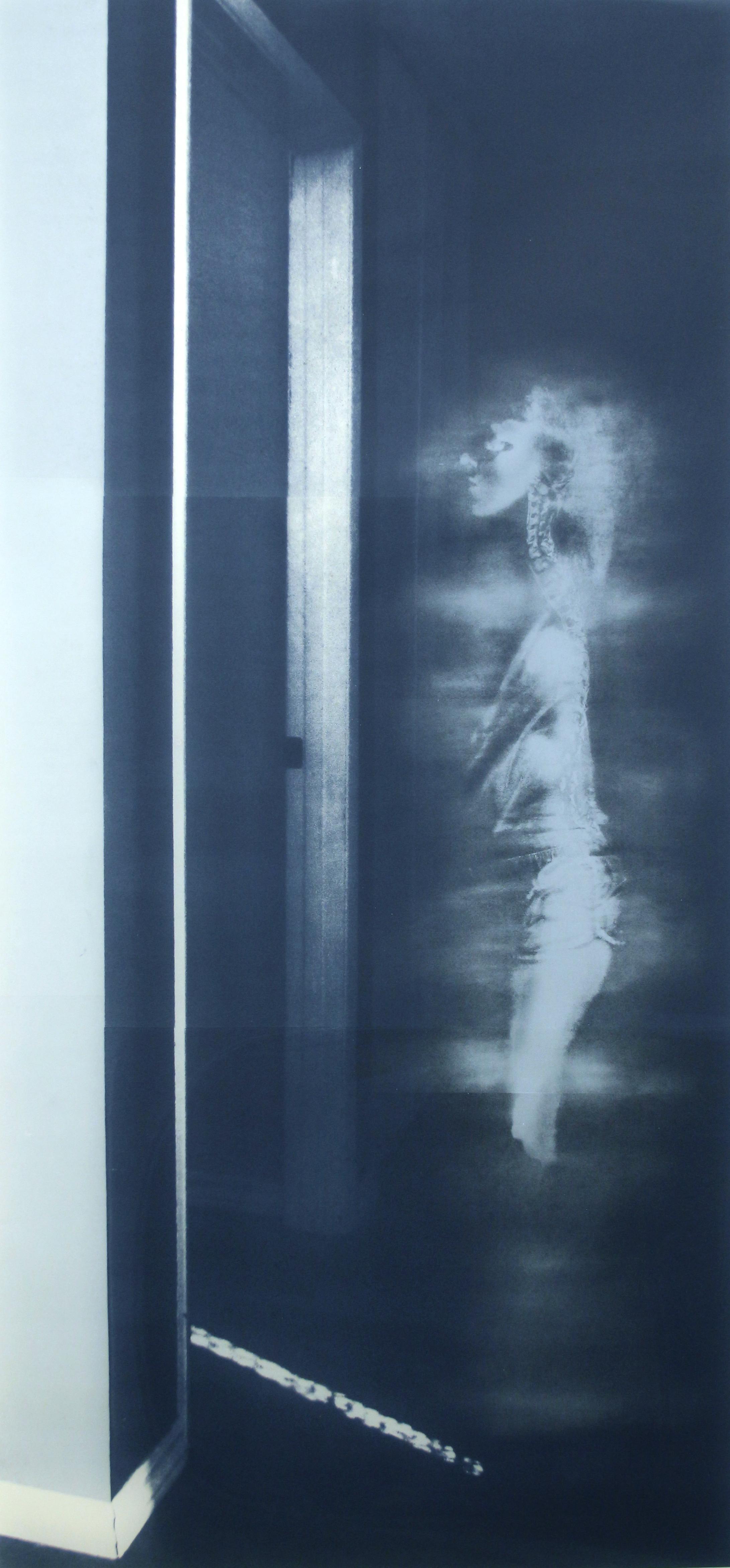 """""""Hallway,"""" Silkscreen, 84"""" x 42,"""" 2014"""