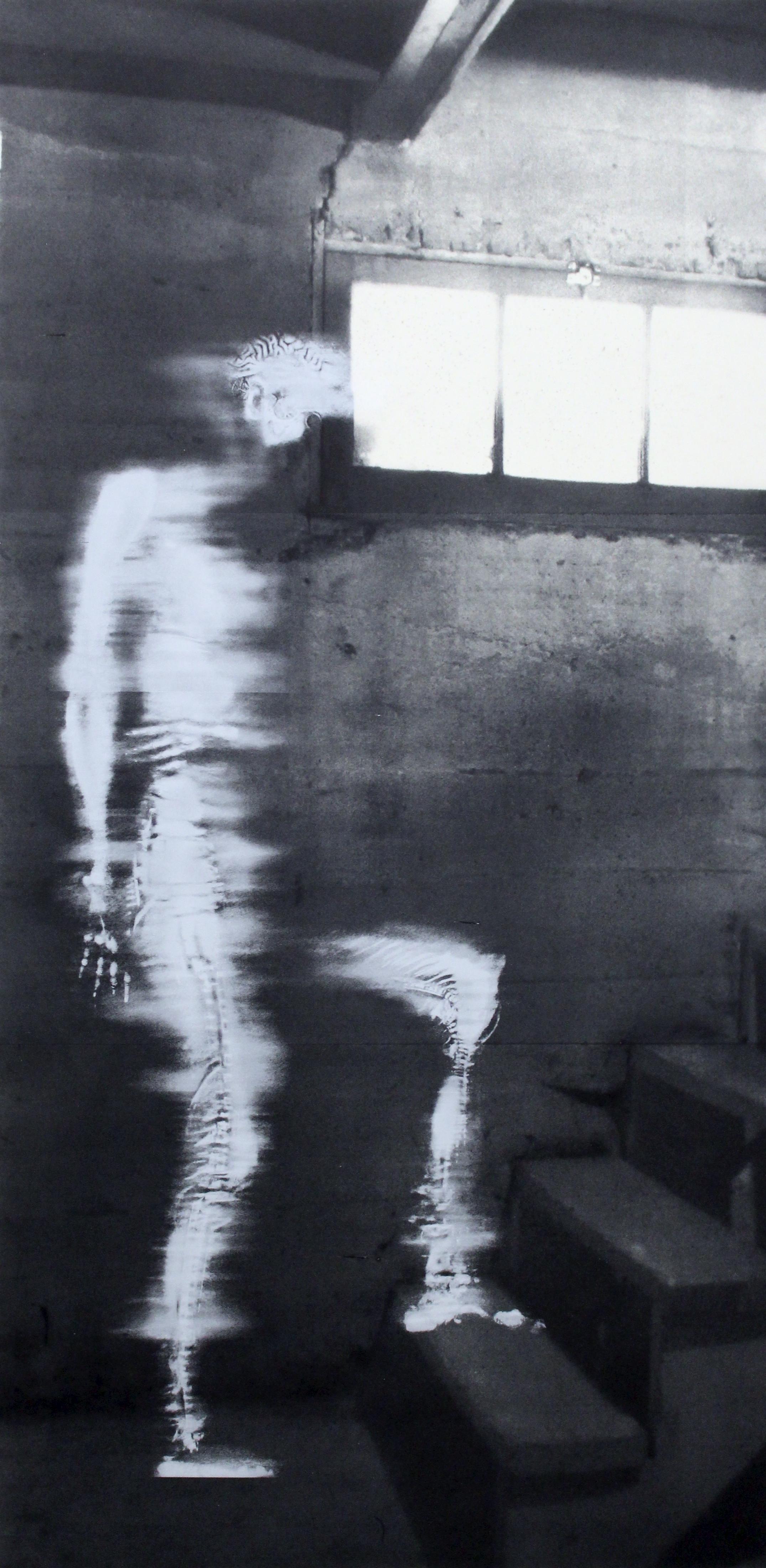 """""""Stairs,"""" Silkscreen, 84"""" x 42,"""" 2014"""