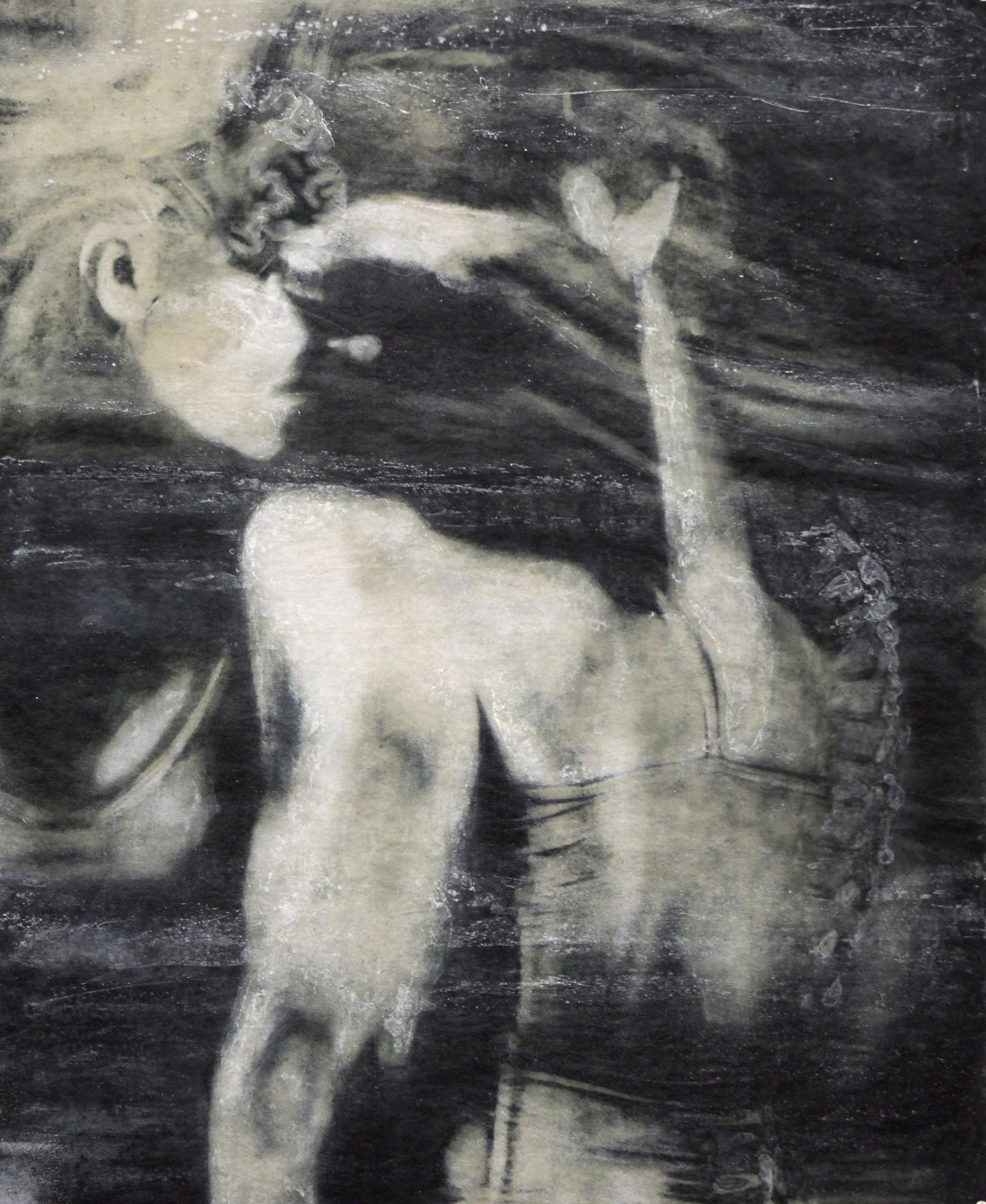 """Radial,"" Photo-intaglio, silkscreen, and monoprint, 26"" x 23,"" 2014"