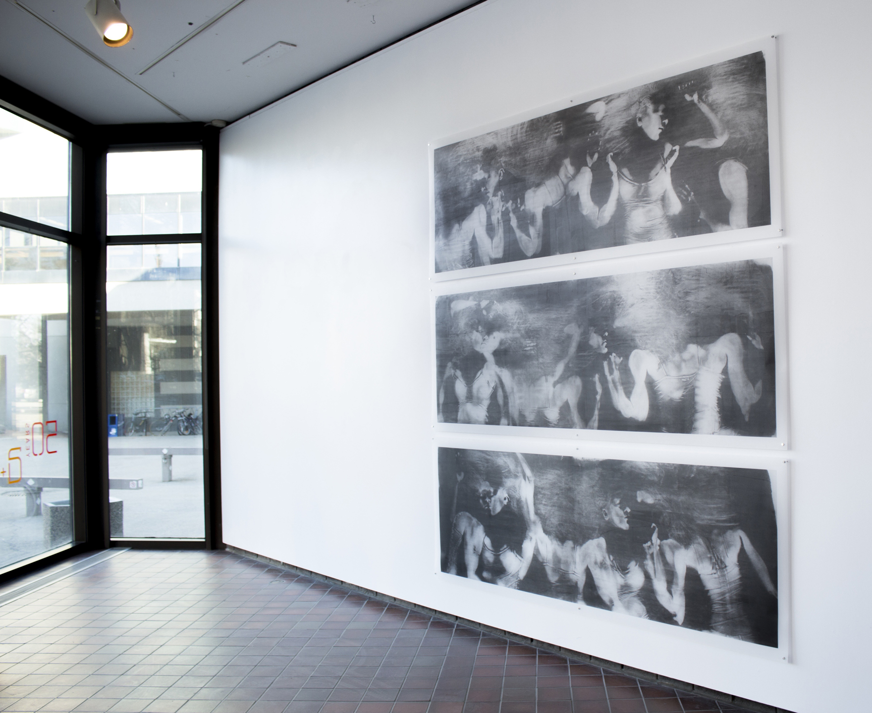 """Restless"" installation view in HABITUS exhibition, 2015"