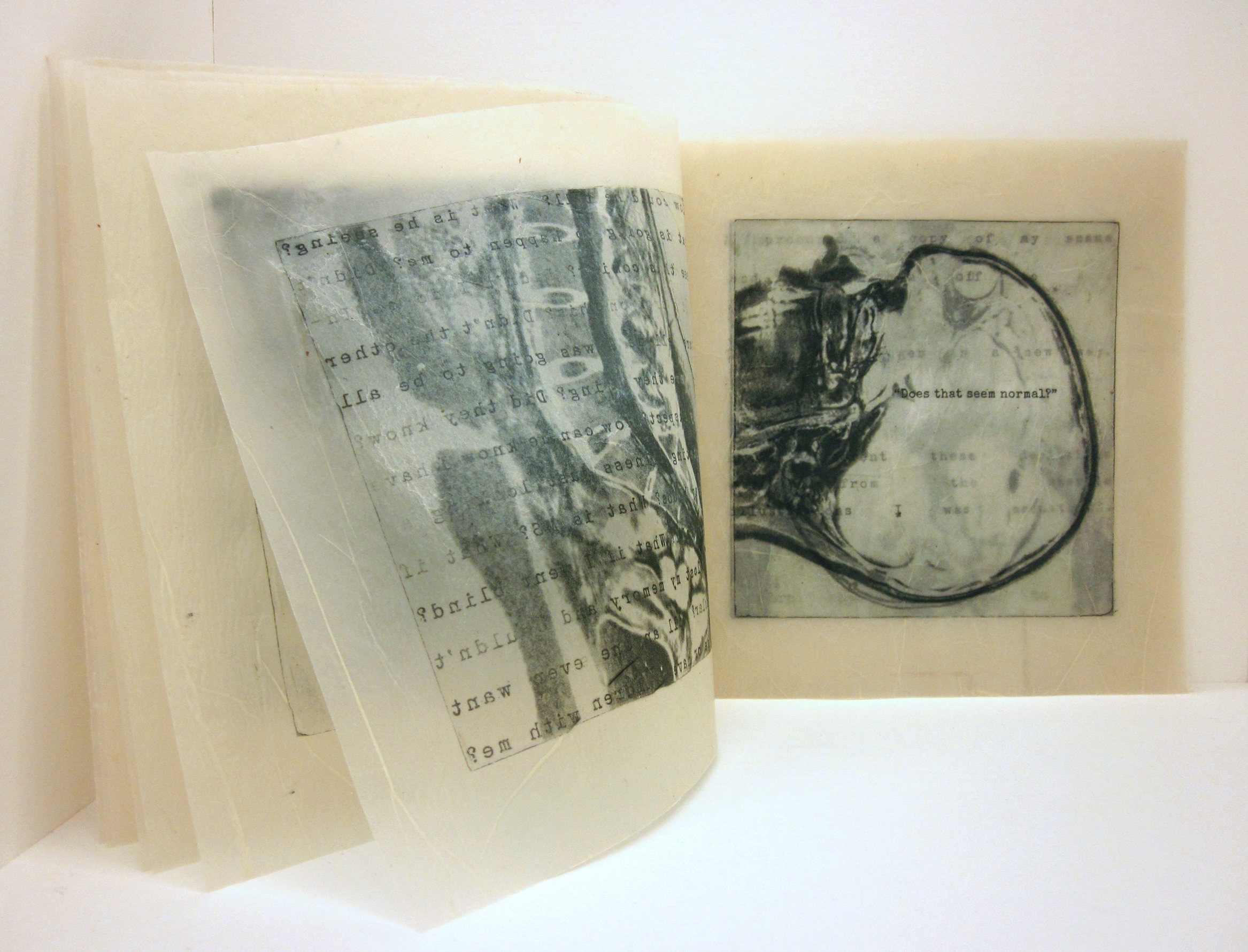 """The Importance of Dualism, Photo-intaglio and encaustic, 9"""" x 10,"""" 2014.jpg"""