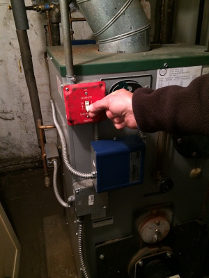 If you're lucky, turning the boiler on is as simple as flipping a switch.