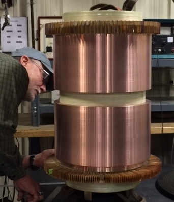 Glassband Commutator with fans being QC'ed