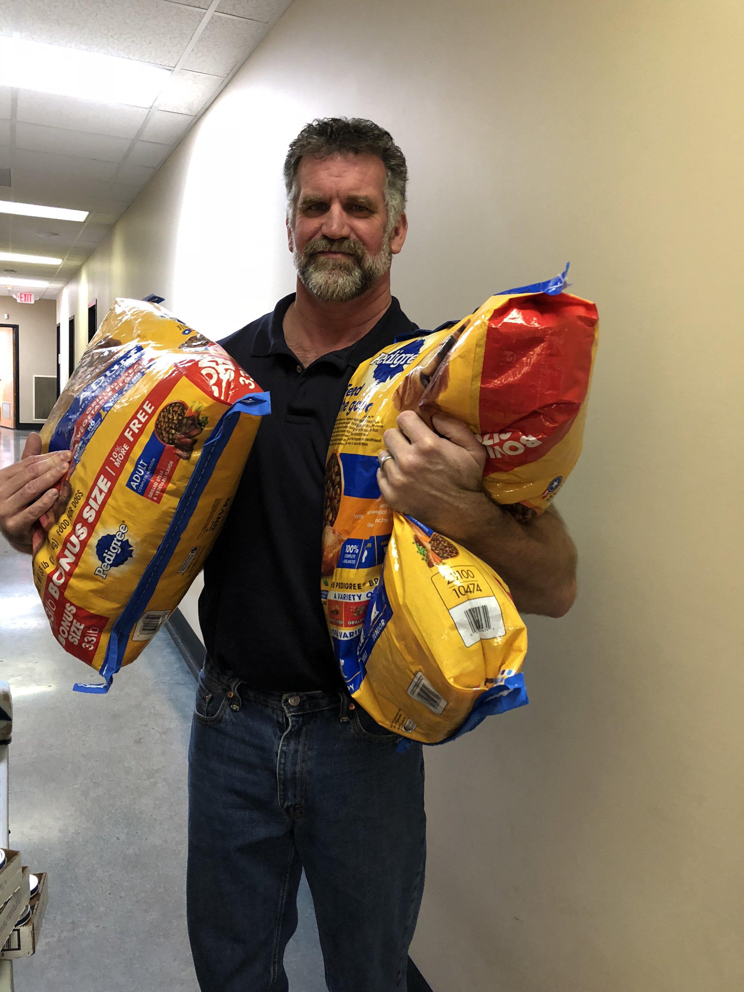 Shawn Lyke_Carrying Dog Food