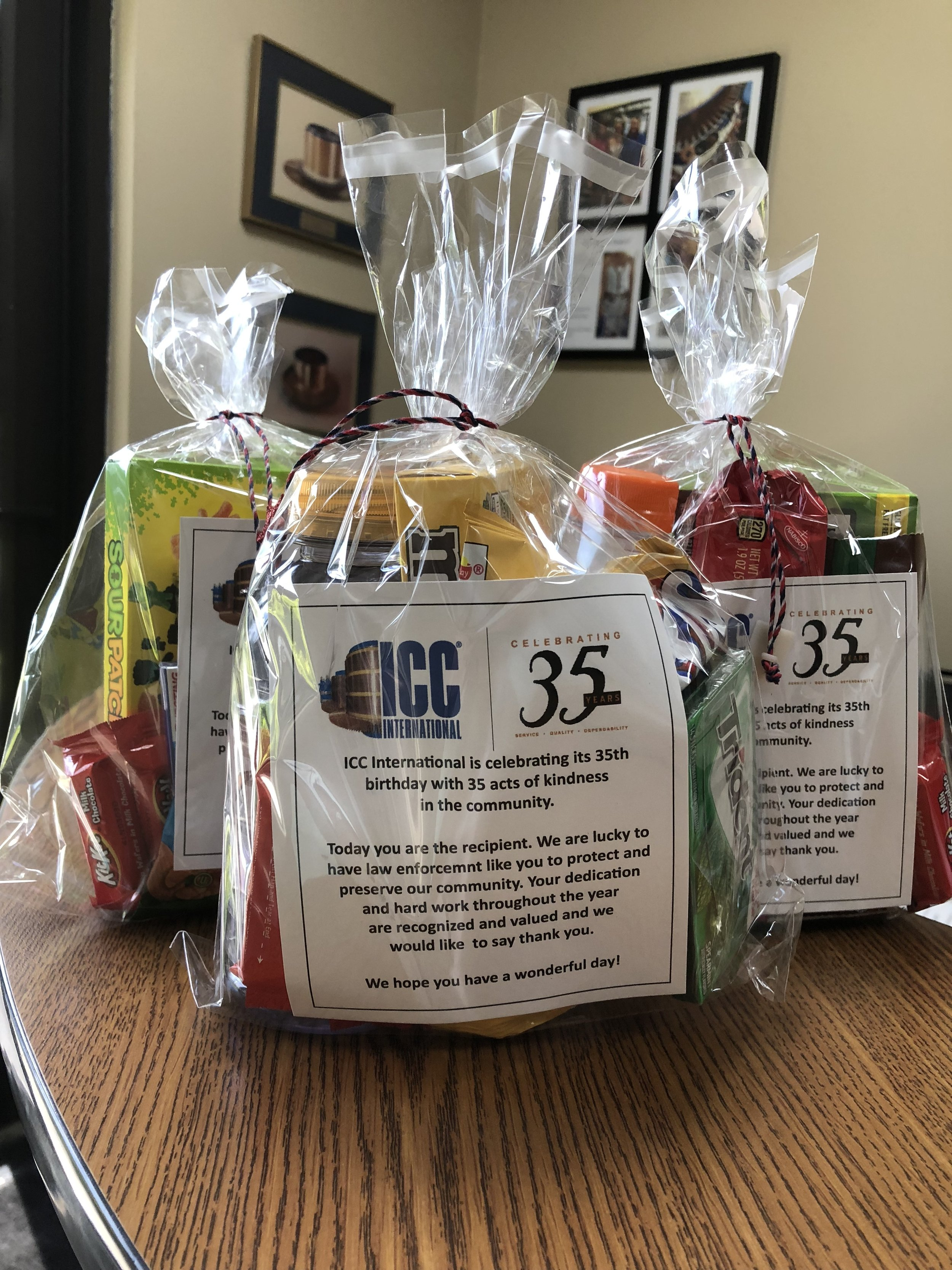 Treat bags for the Maryville Police Department