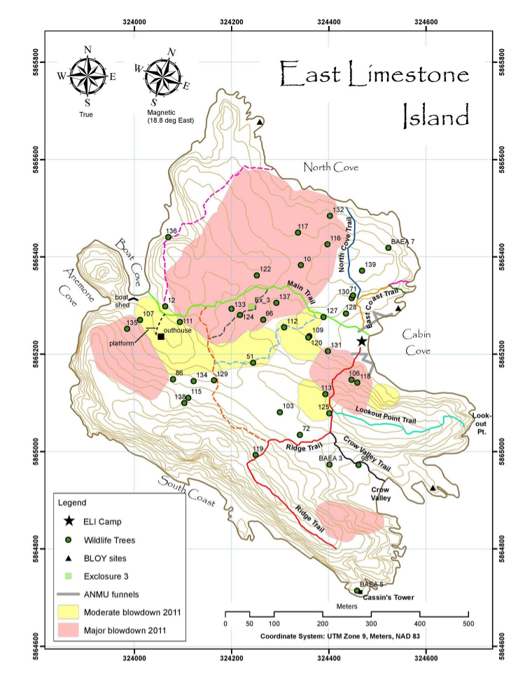 Map of East Limestone Island