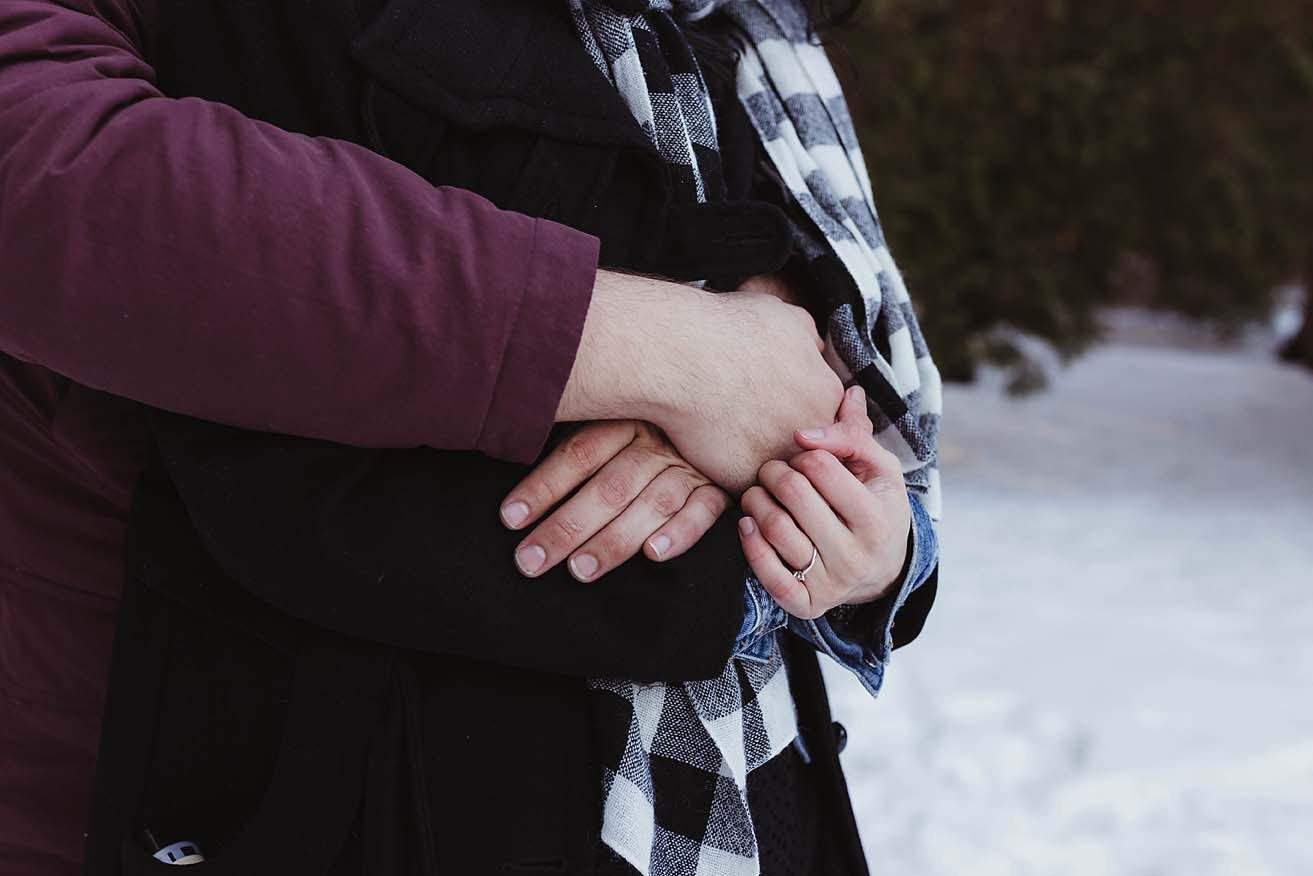 winter engagement photographer elora gorge documentary photographer copperred