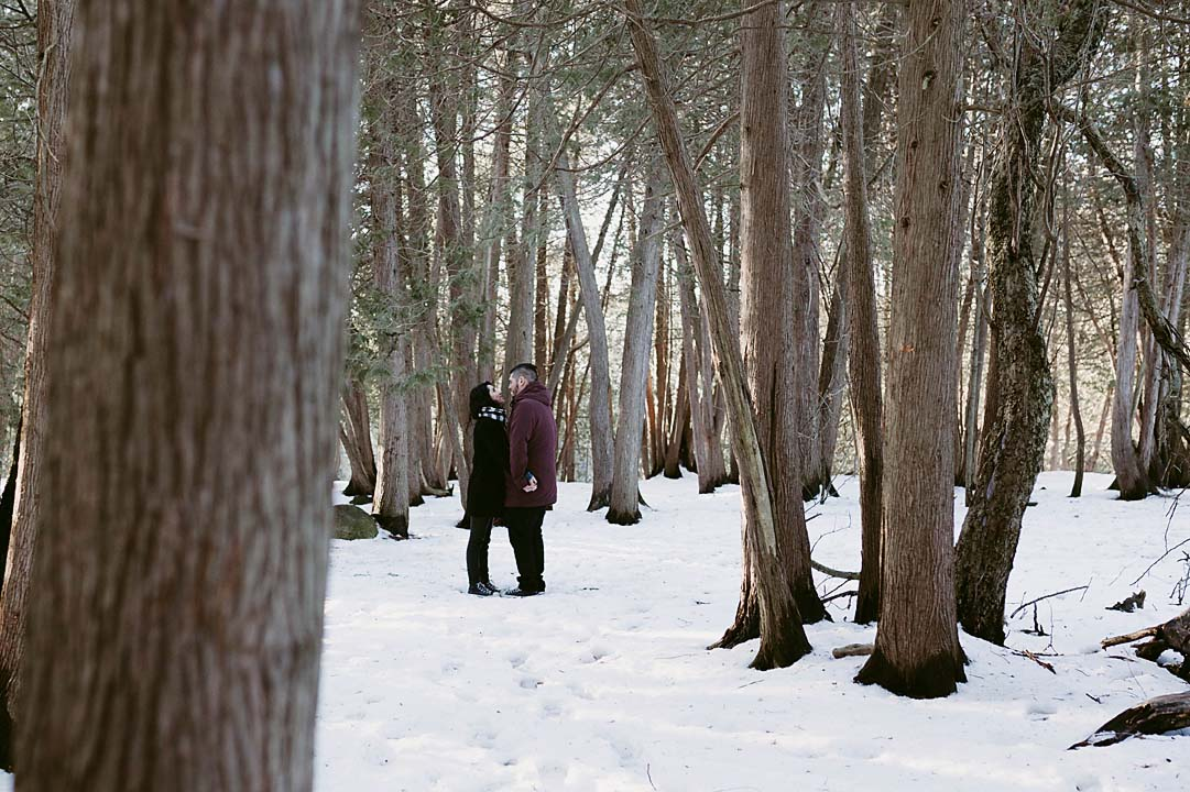 winter engagement photographer at elora gorge   documentary photographer CopperRed