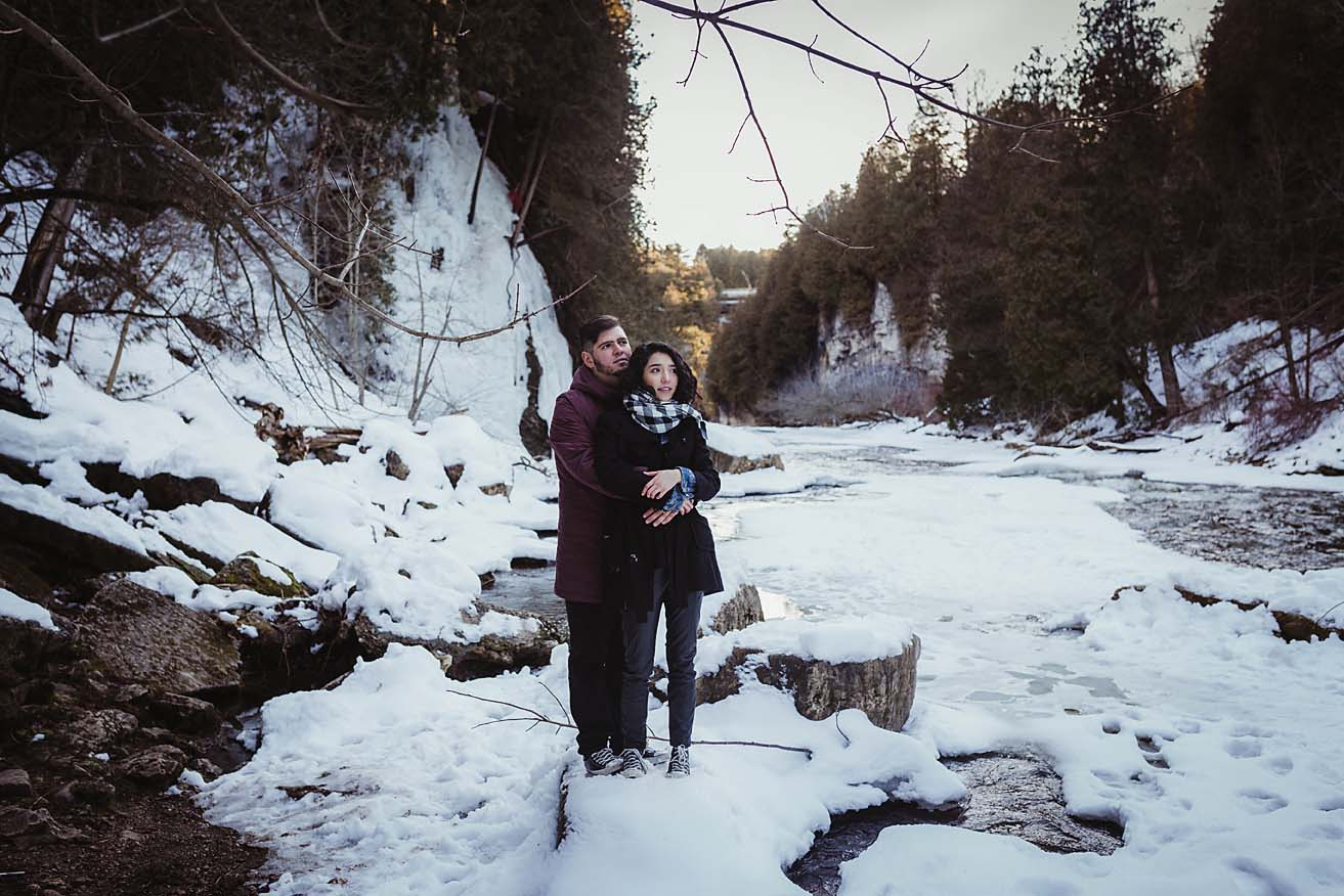 Winter Engagement Photography at Elora Gorge   Documentary Photographer CopperRed