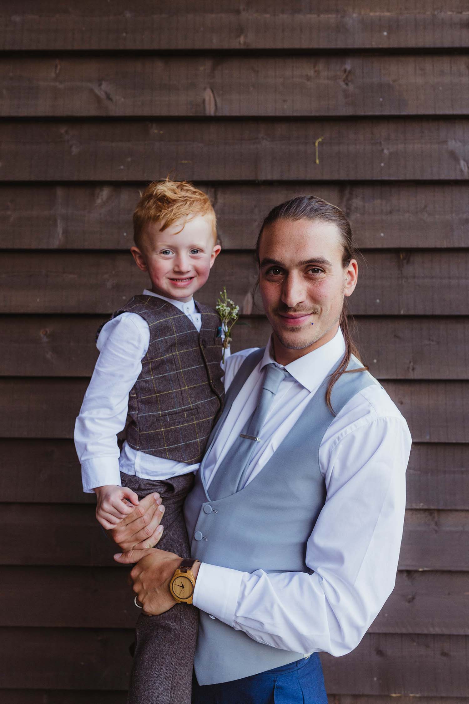 toronto wedding photographer copperred groomsman and page boy