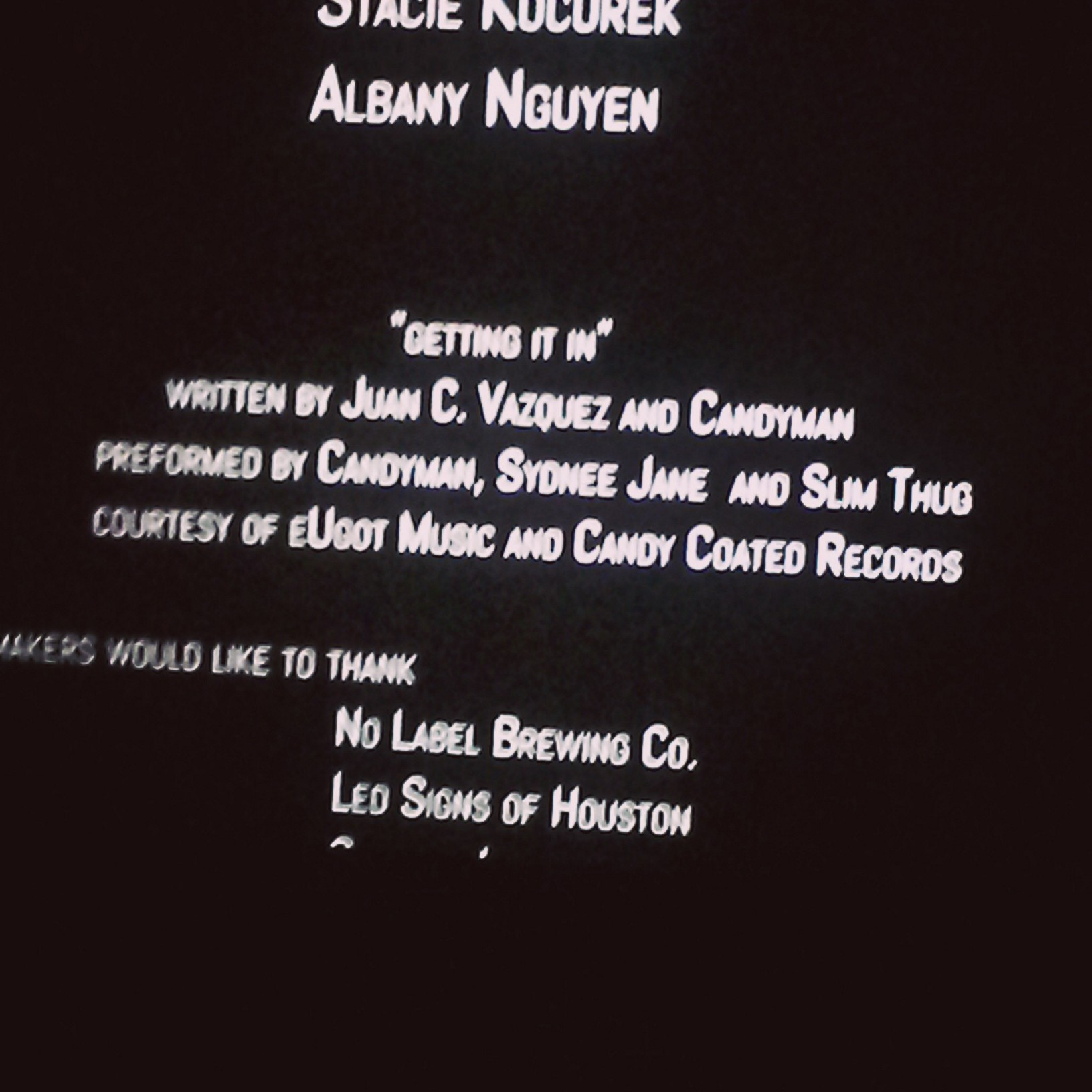 Credit Roll at the End of the Movie!