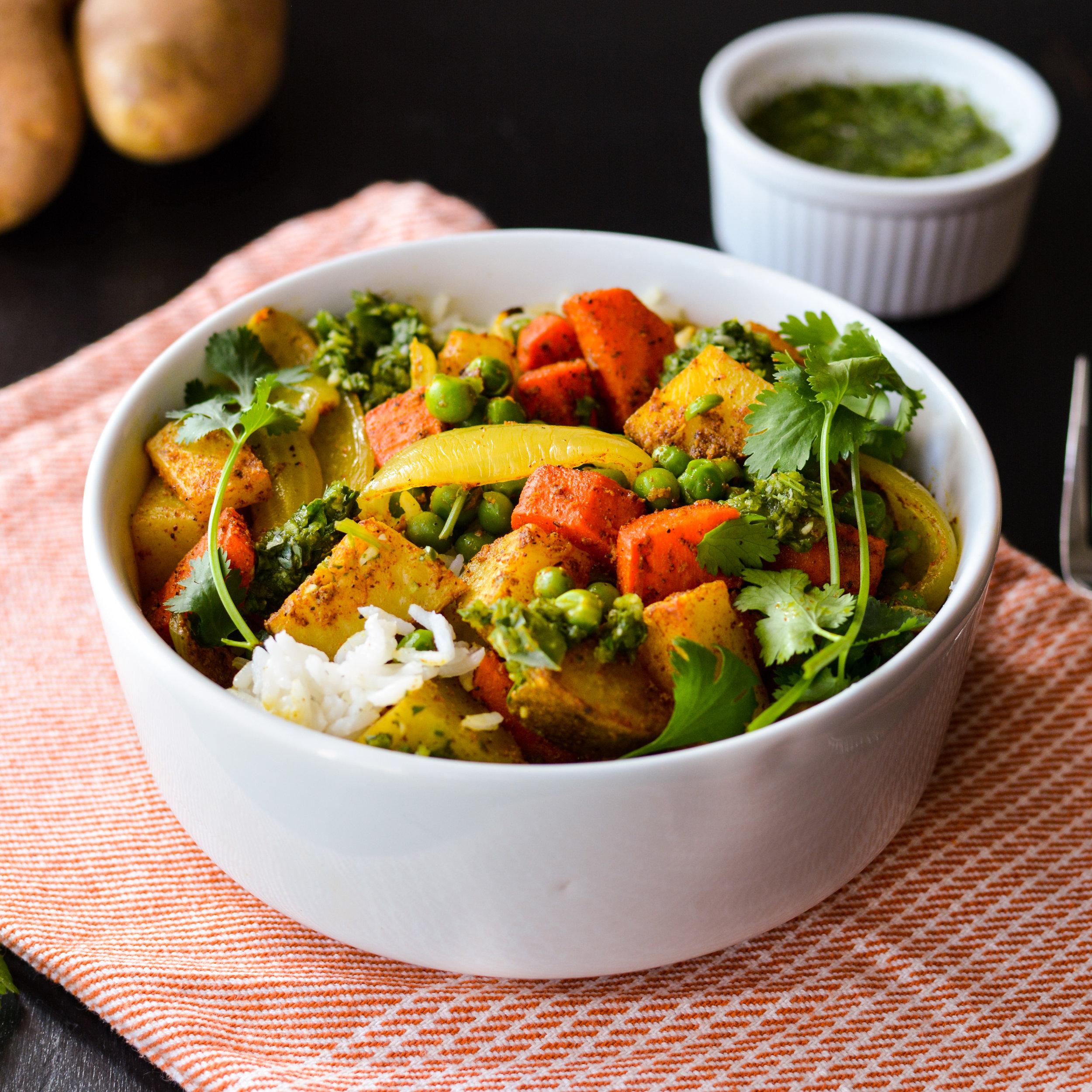 Vegetable Samosa Bowl - Kristin's Kitchen