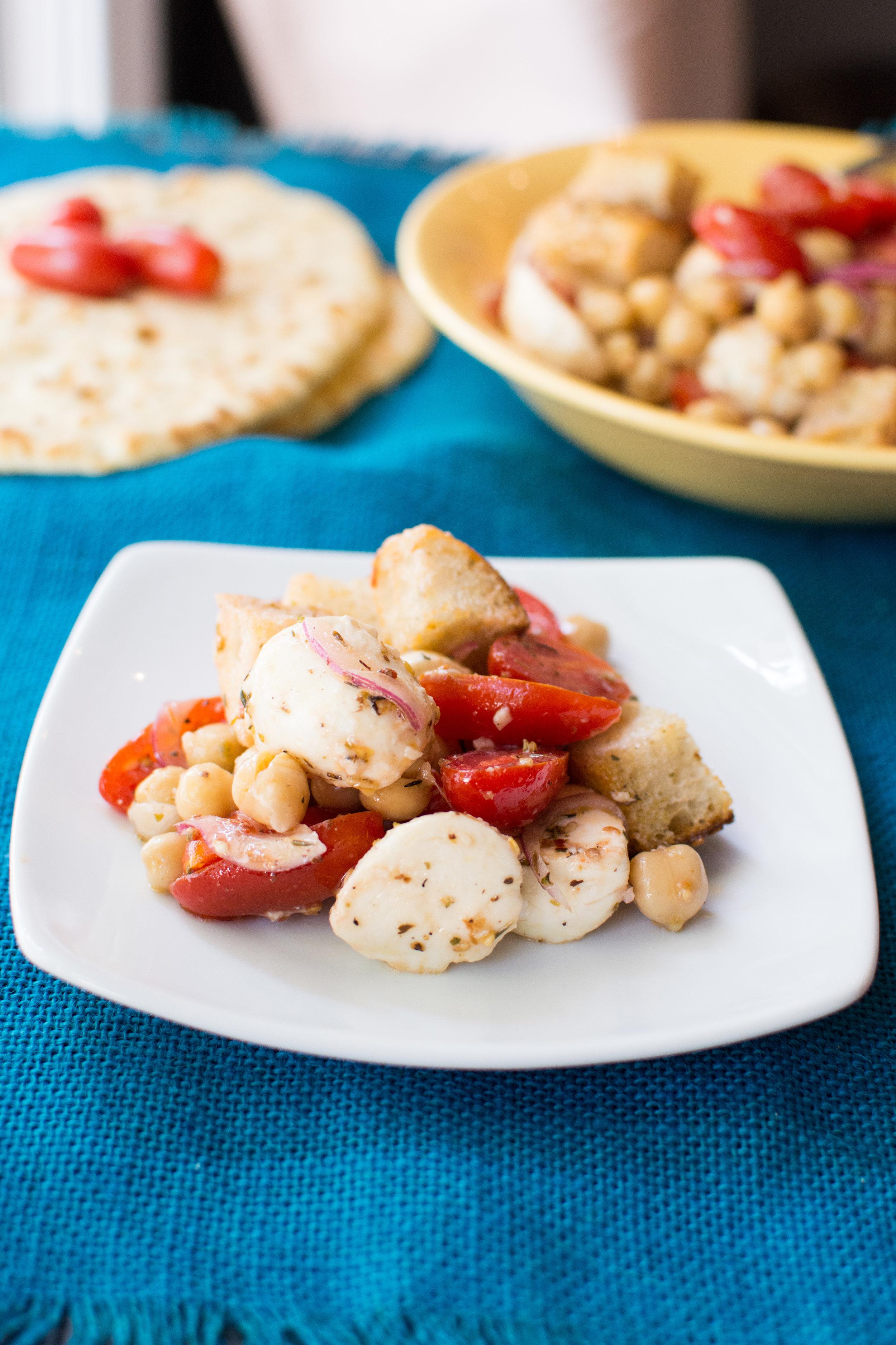 Za'atar Spiced Bread Salad