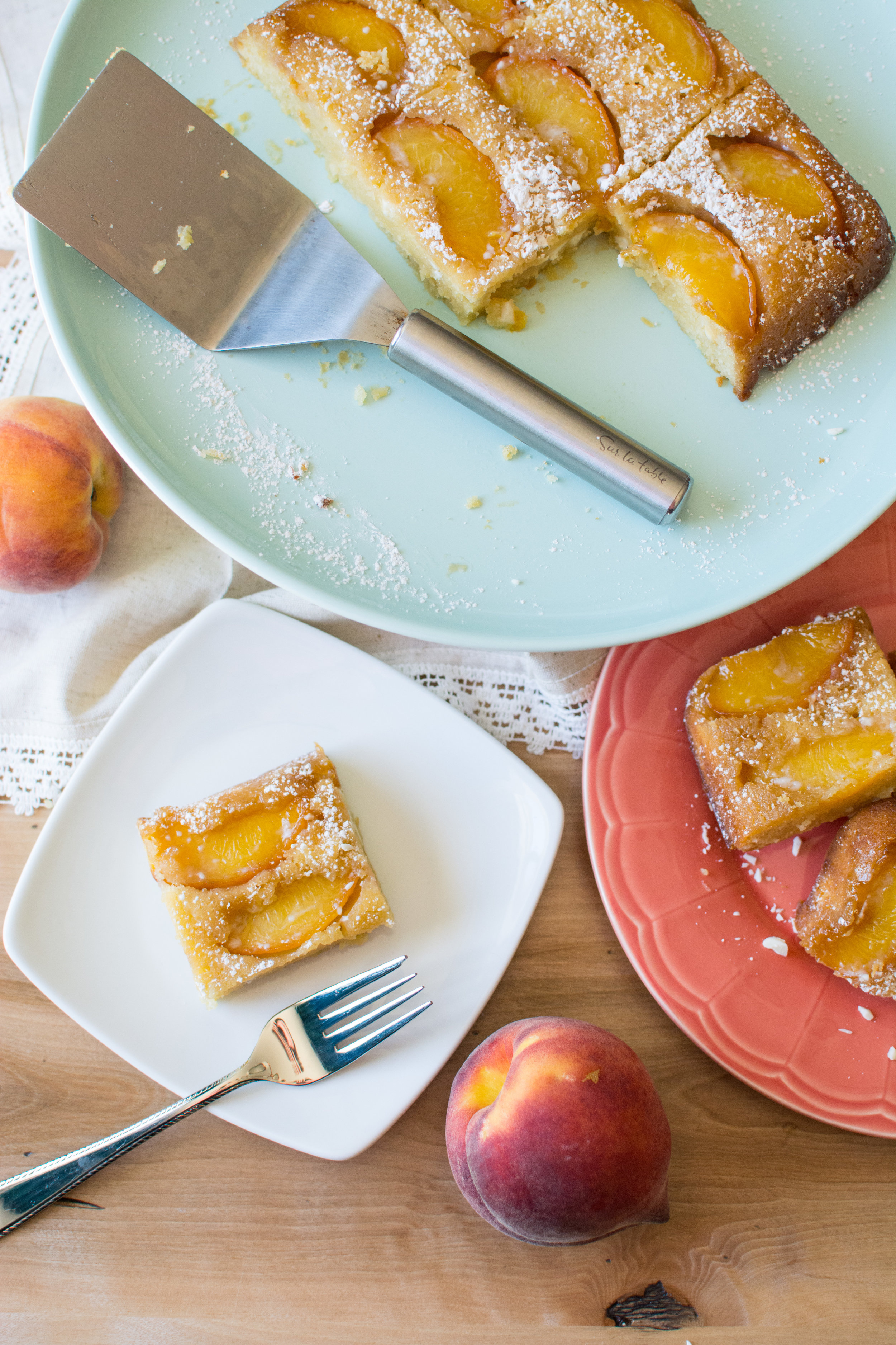 Upside Down Peaches and Cream Bars