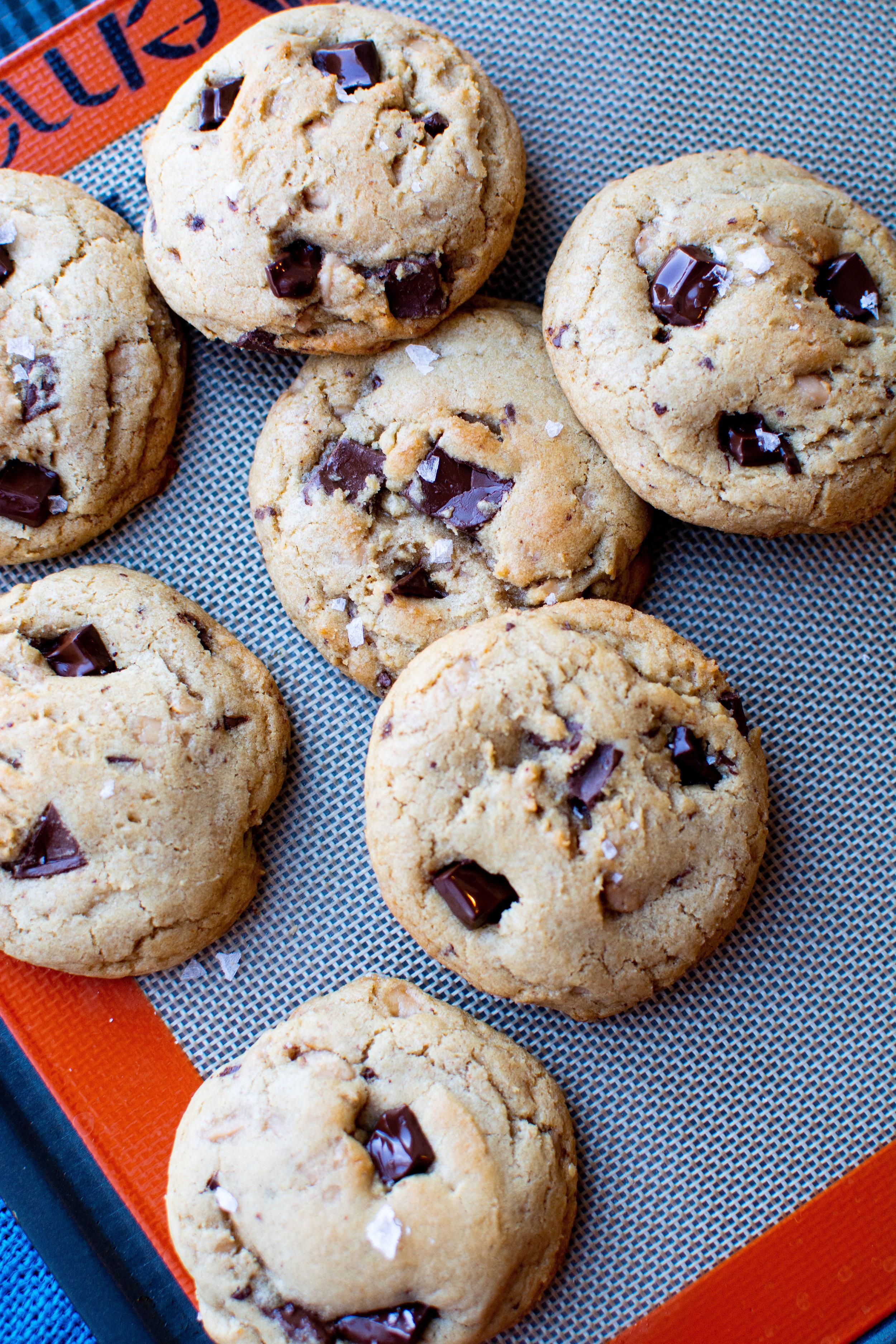 Brown Butter Toffee Cookies