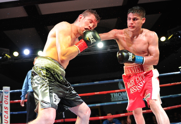Danny Roman, right, looked sensational in his UD win over Giovanni Caro