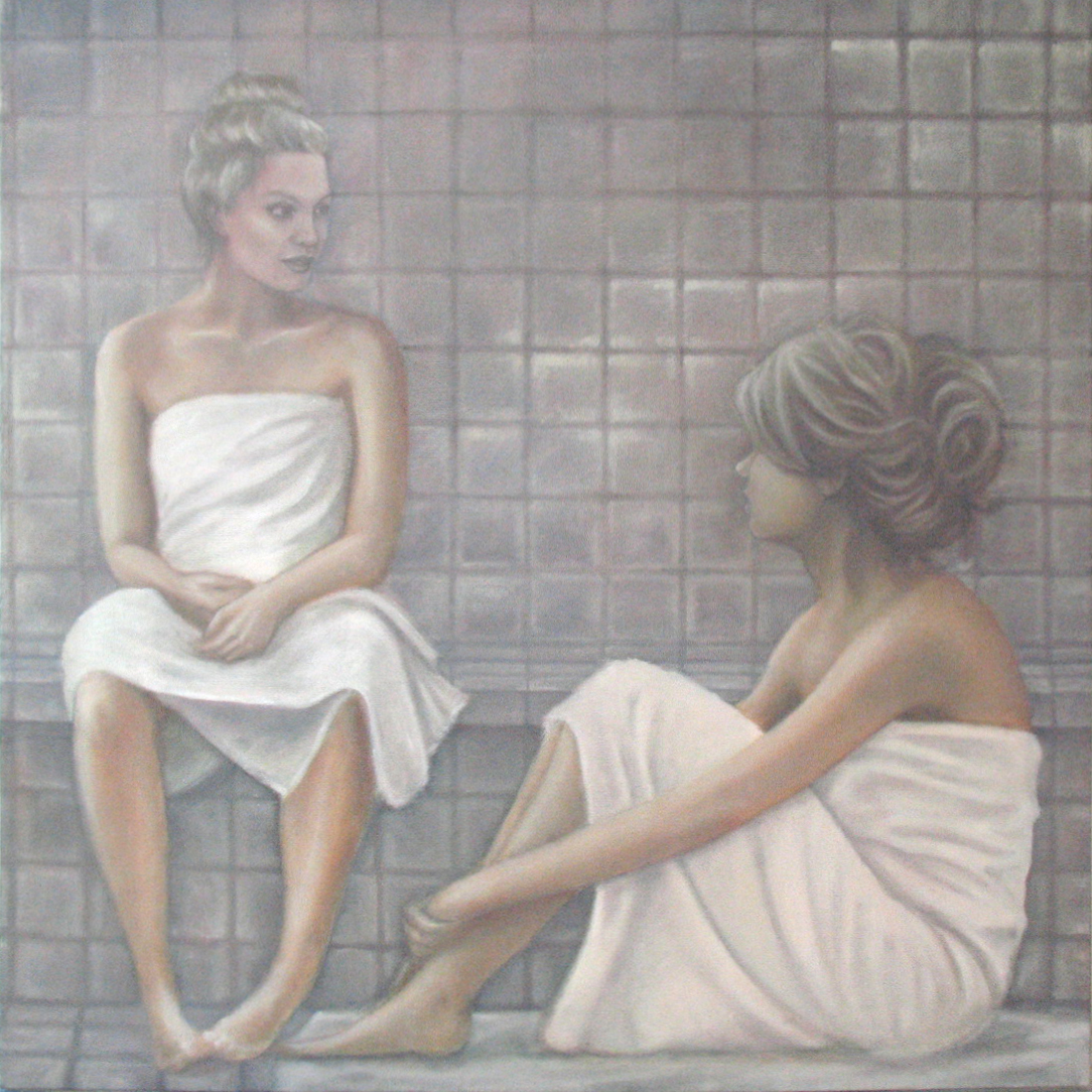 "Talk to Me  30""x30"" oil on canvas"