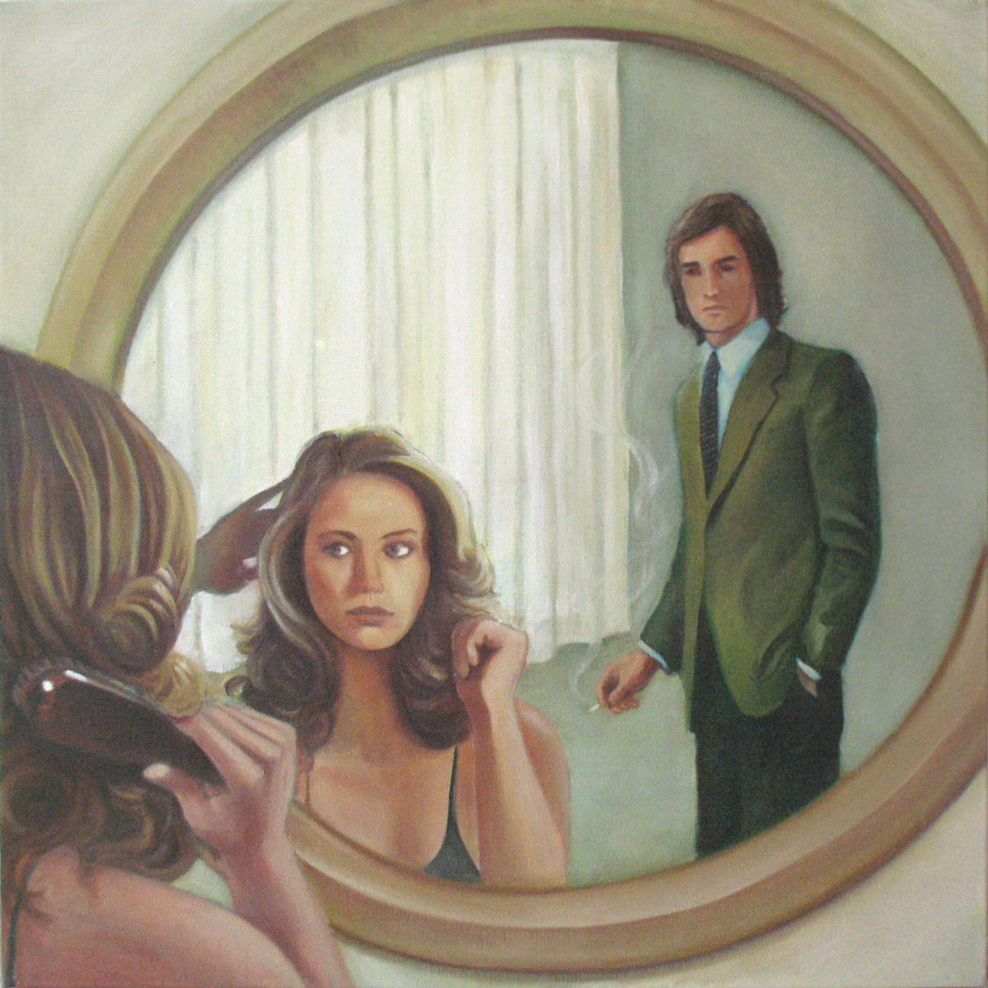 "Mirrors  20""x20"" oil on canvas"