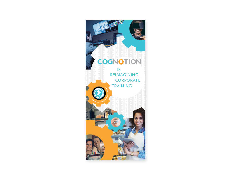 "Cognotion Inc. roll-out trade show banner  33.5""x79"" vinyl banner — design/layout"