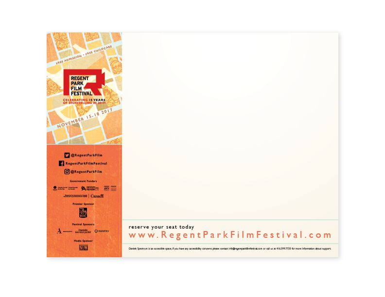 15th Annual Regent Park Film Festival slide background