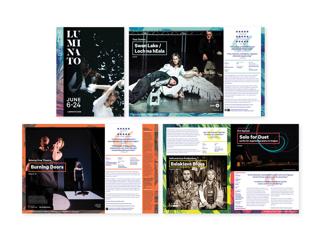 Luminato 2018 Festival Program Brochure