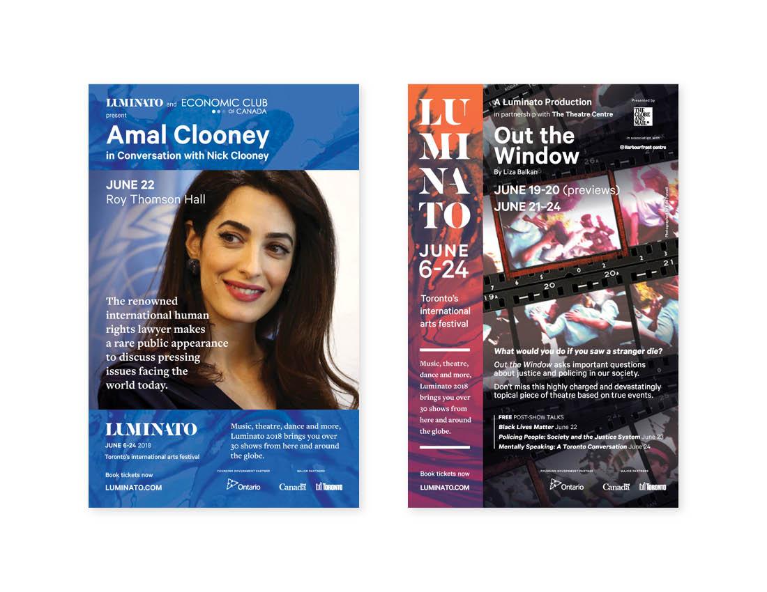 Luminato 2018 — Globe & Mail 1/4 page ads