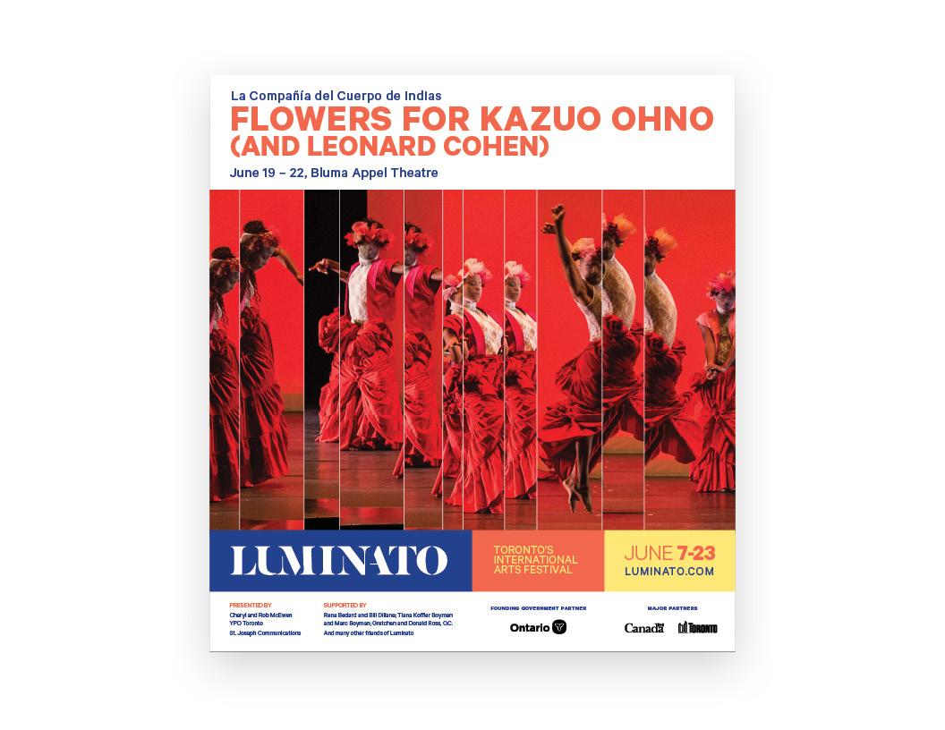 Luminato 2019 venue poster — Flowers for Kazuo Ohno