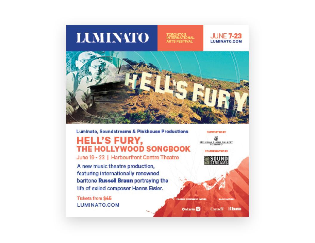 Luminato 2019 print ad — Hell's Fury