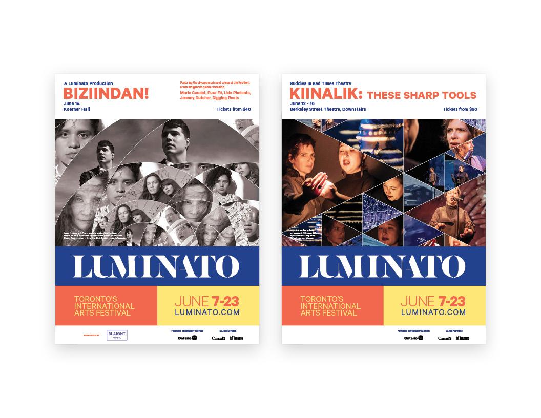 Luminato 2019 Poster Campaign — BIZIINDAN! / Kiinalik