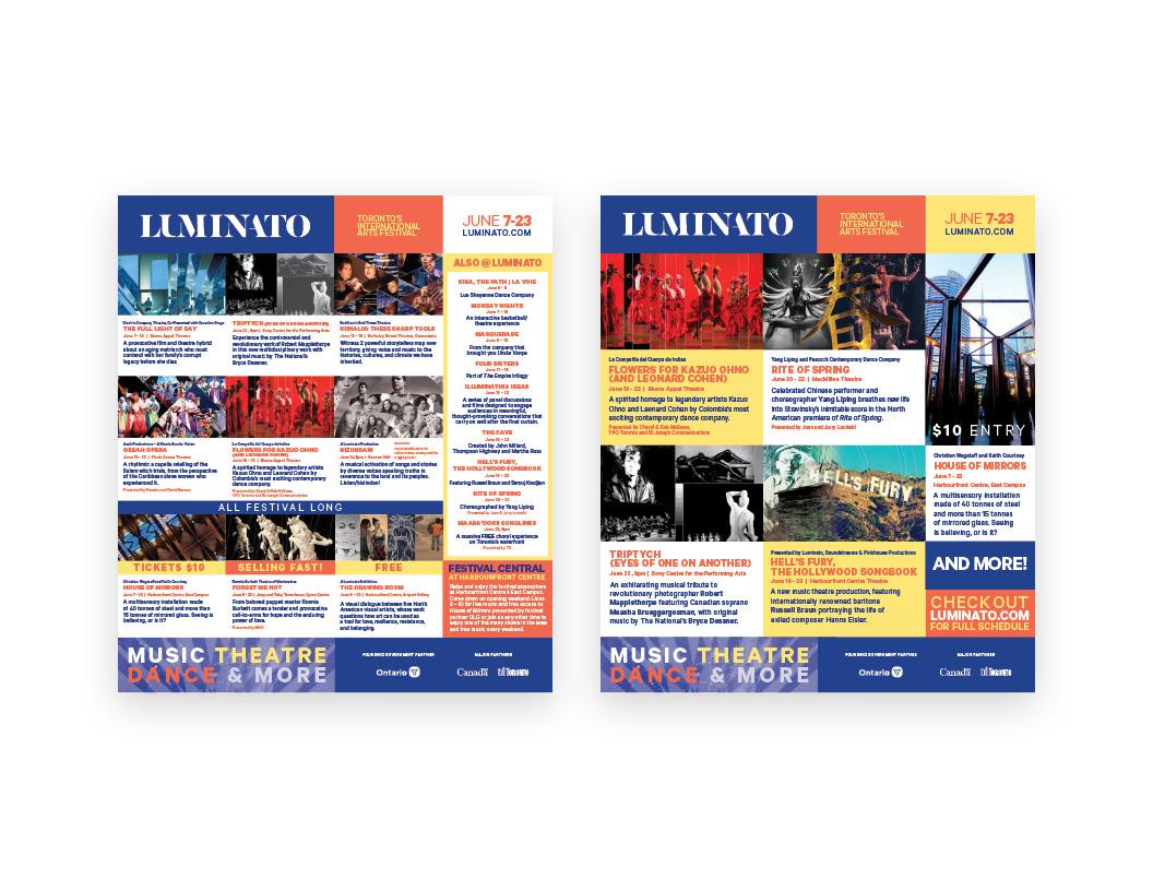 Luminato 2019 print ads — Now Magazine
