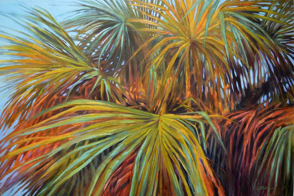Technicolor Palms, 24 x 36""