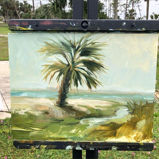 Happy Mother's Day! Not much to say other than I love you, mama @robinpoppstudio and I'm glad to spend this week painting and learning with you! You make me so proud. We are ready for you, @plein_air_south 🥰 #beachbum #oilpainting #oil #pleinair #pleinairpainting #palmtree #forgottencoast #portstjoe #floridaartist #30a #pleinairsouth #impressionism