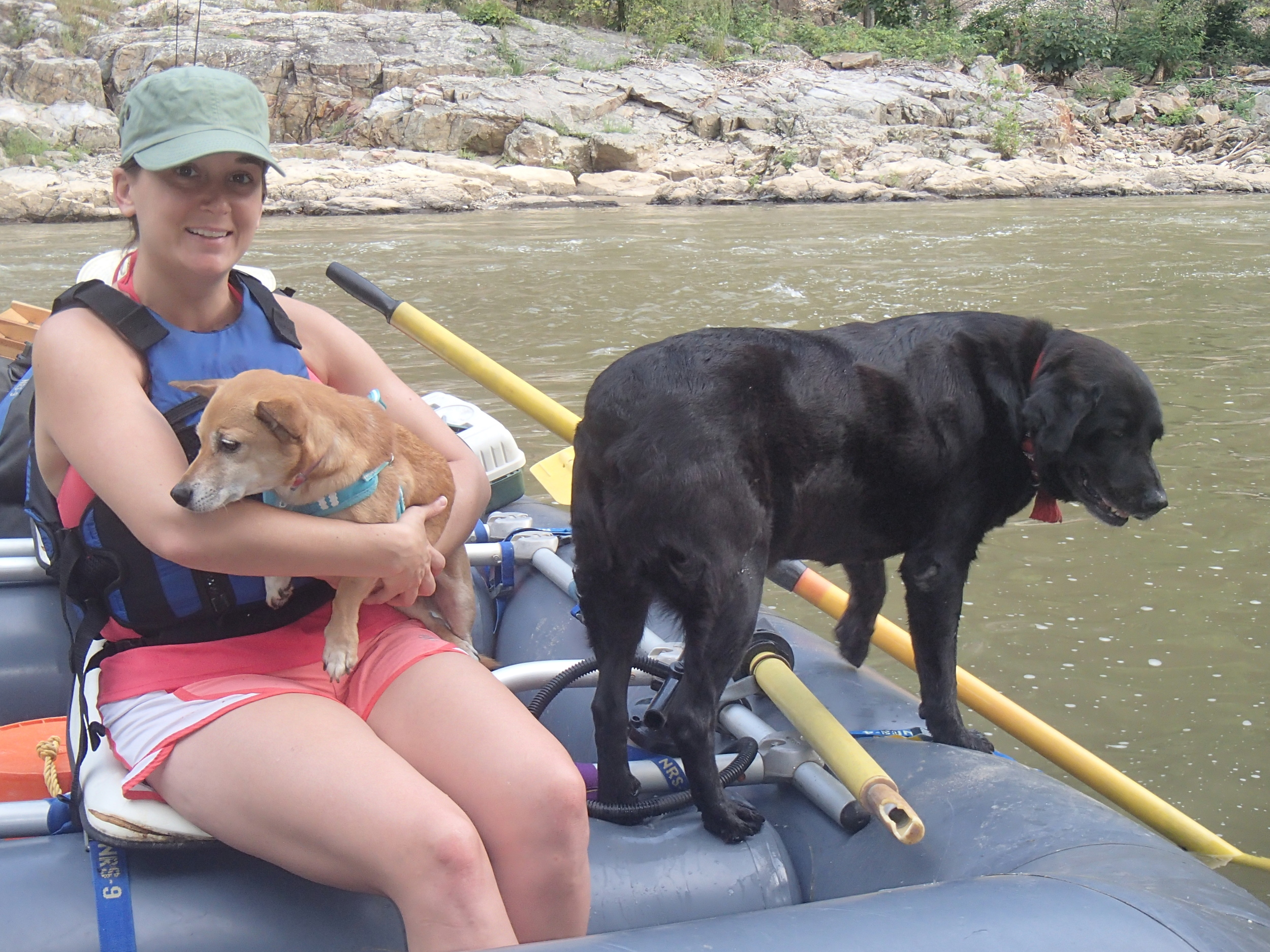 Smoky & Miss P join us rafting