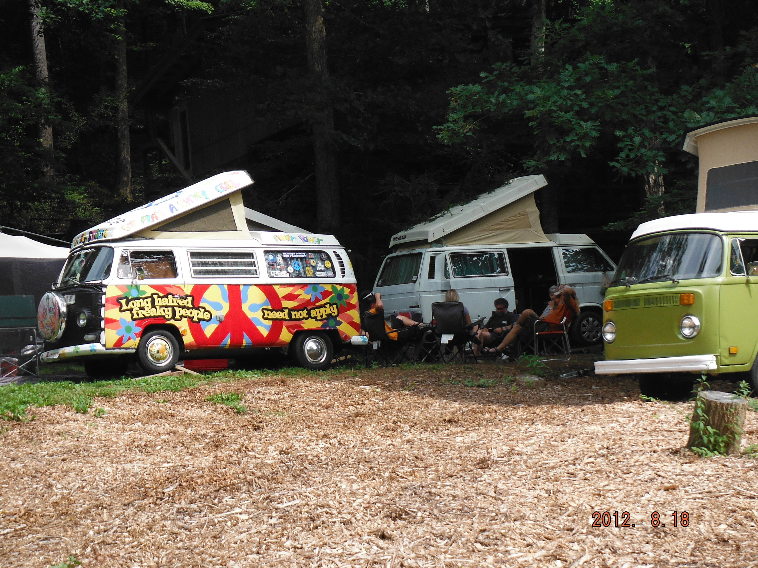 Every August, VW vans take over the campground